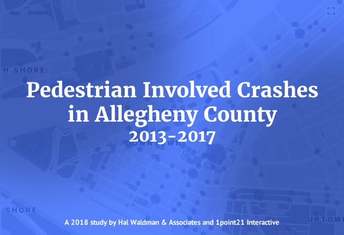 Pedestrian crashes in Allegheny County