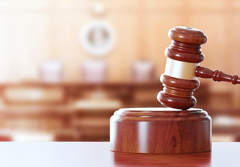 judges gavel and striking block
