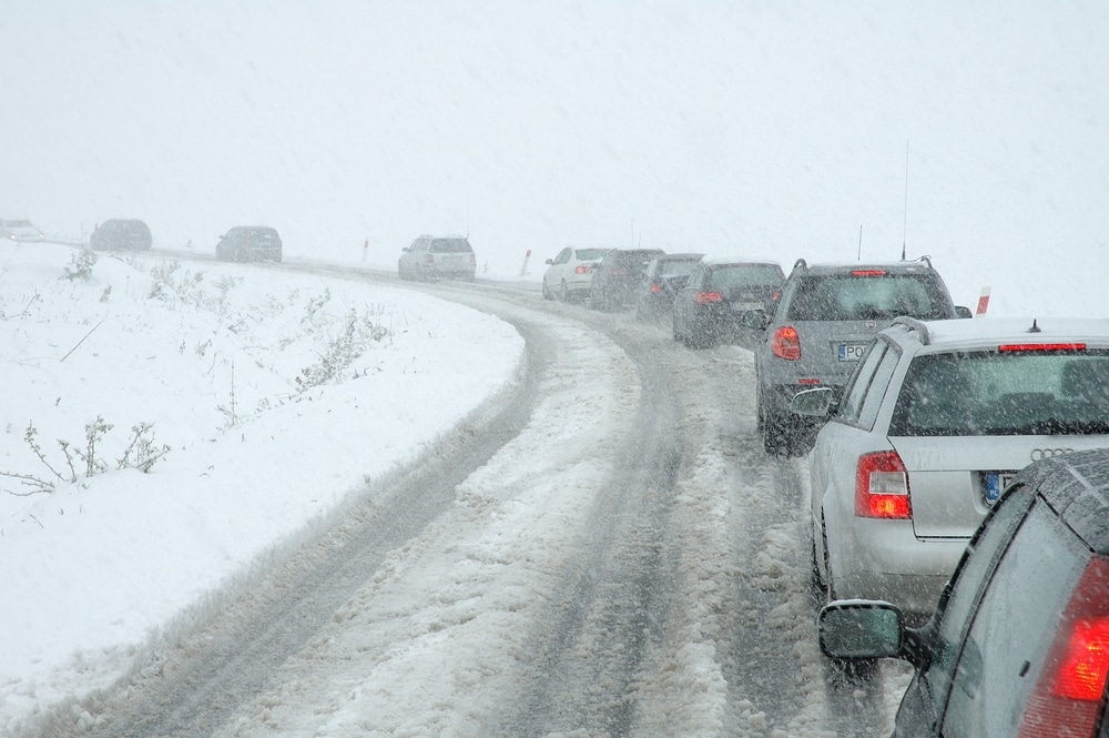 winter weather can cause an accident even if you are an expert driver
