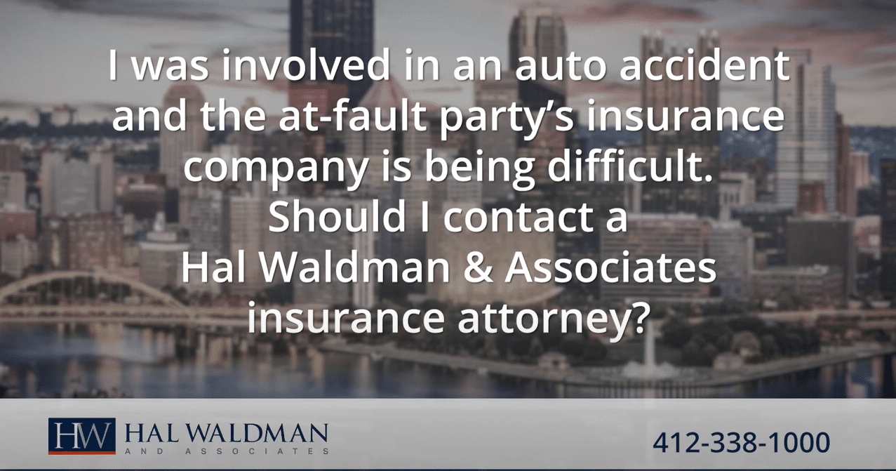 At fault insurance company is being difficult
