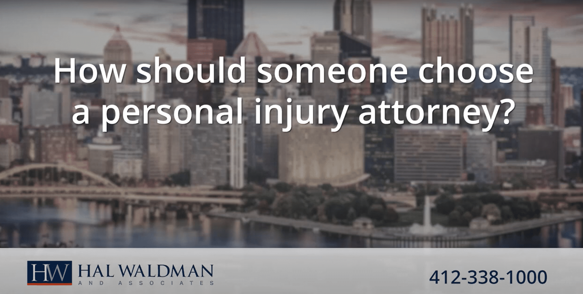 How should someone choose a personal injury attorney