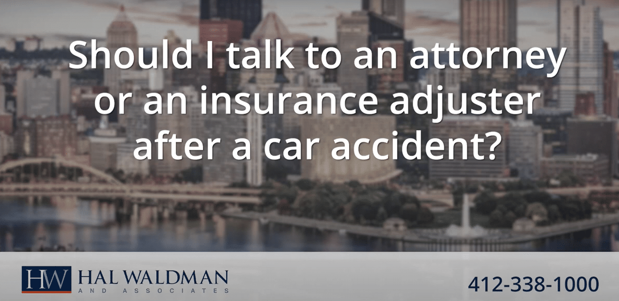 insurance adjuster after a car accident